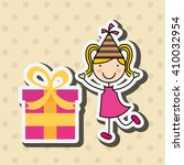 happy children on  party design  | Shutterstock .eps vector #410032954