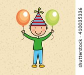 happy children on  party design  | Shutterstock .eps vector #410035336