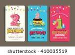 birthday anniversary numbers... | Shutterstock .eps vector #410035519