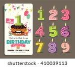 birthday anniversary numbers... | Shutterstock .eps vector #410039113