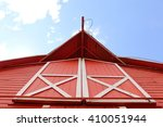 Looking Up At A Red Barn...