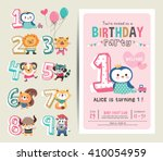 birthday anniversary numbers... | Shutterstock .eps vector #410054959