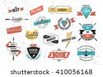 old style vector badges and... | Shutterstock .eps vector #410056168