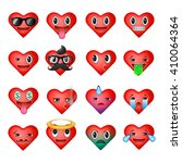 set of heart emoticons  emoji... | Shutterstock .eps vector #410064364