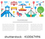 children's playground with... | Shutterstock .eps vector #410067496