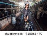 portrait of a female worker in...   Shutterstock . vector #410069470