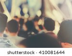 blur unrecognizable crowd at... | Shutterstock . vector #410081644