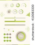progress bars with green leaf.... | Shutterstock .eps vector #410083330
