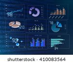 graph and data | Shutterstock . vector #410083564