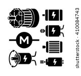 electric motor vector icons  | Shutterstock .eps vector #410084743