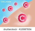 collagen make skin white vector ... | Shutterstock .eps vector #410087836
