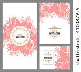 invitation with floral... | Shutterstock . vector #410087959