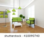white room with green classic... | Shutterstock . vector #410090740