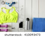 sport equipment and clothes... | Shutterstock . vector #410093473