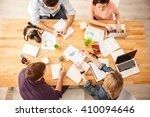 smart young colleagues are... | Shutterstock . vector #410094646