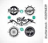 retro bicycle vector labels or... | Shutterstock .eps vector #410096839