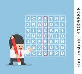 businessman found success in... | Shutterstock .eps vector #410098858