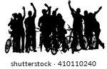 sport tourist company friends... | Shutterstock .eps vector #410110240