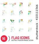 flag icon logo vector... | Shutterstock .eps vector #410111566