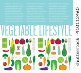 illustration with vegetables.... | Shutterstock .eps vector #410112460