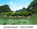 Trang An, Ninh Binh, vietnam. Trang An is UNESCO World Heritage Site, renowned for its boat cave tours. It