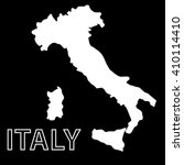 vector map of italy in white on ... | Shutterstock .eps vector #410114410
