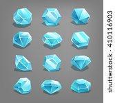 set of cartoon gems. vector...