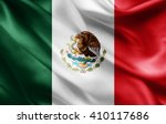 mexico flag of silk  | Shutterstock . vector #410117686