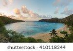 panorama view of hanauma bay in ... | Shutterstock . vector #410118244