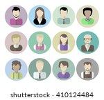 office workers avatars on white ... | Shutterstock .eps vector #410124484