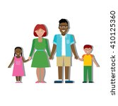 multicultural family on white... | Shutterstock .eps vector #410125360