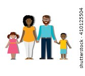 multicultural family on white... | Shutterstock .eps vector #410125504
