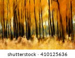 Forest In Autumn  Oil Painting...