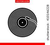 vinyl record vector icon. | Shutterstock .eps vector #410146228