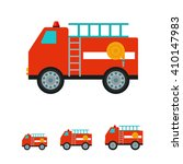 fire fighting vehicle icon | Shutterstock .eps vector #410147983