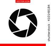 camera shutter icon.   Shutterstock .eps vector #410148184