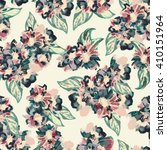 hand drawn watercolor floral... | Shutterstock . vector #410151964