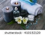 spa still life with flowers and ... | Shutterstock . vector #410152120