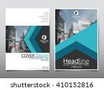 blue arrow annual report... | Shutterstock .eps vector #410152816