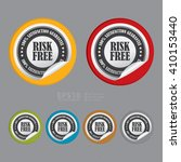 vector   circle risk free 100 ... | Shutterstock .eps vector #410153440