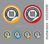 vector   circle risk free 100 ...   Shutterstock .eps vector #410153440