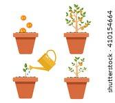 evolution of money tree.... | Shutterstock .eps vector #410154664