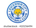 Small photo of BANGKOK, THAILAND -April 24, 2016: the logo of Leicester City football club on the billboard.