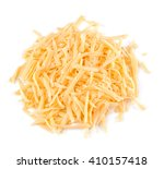Grated Cheese Isolated On A...