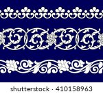 set of ribbon seamless floral... | Shutterstock .eps vector #410158963