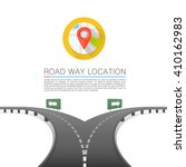 road choice  road arrow cover ... | Shutterstock .eps vector #410162983