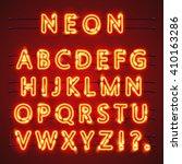 neon font city text  night... | Shutterstock .eps vector #410163286