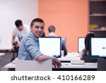 technology students group in... | Shutterstock . vector #410166289