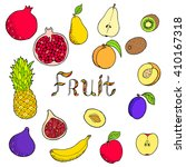 fruit food graphic art set... | Shutterstock .eps vector #410167318