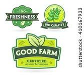 set of organic bio labels on... | Shutterstock .eps vector #410167933